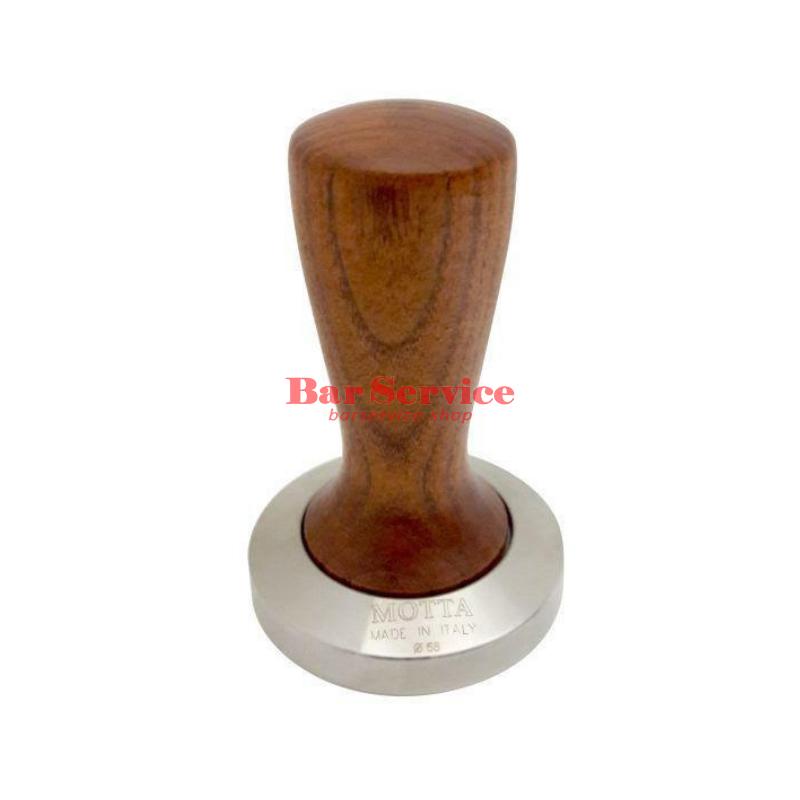 Темпер Мотта SLIM 58 мм. (плоский) рукоятка из дерева в Липецке
